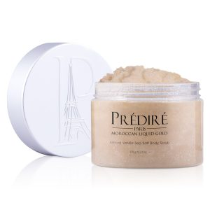 Almond Vanilla Sea Salt Exfoliating Body Scrub with Argan Oil & Vitamin E Booster, 225ml